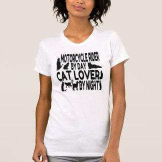 Jinete de la motocicleta del amante del gato camisetas