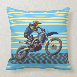 Jinete de Motorcross Cojín Decorativo
