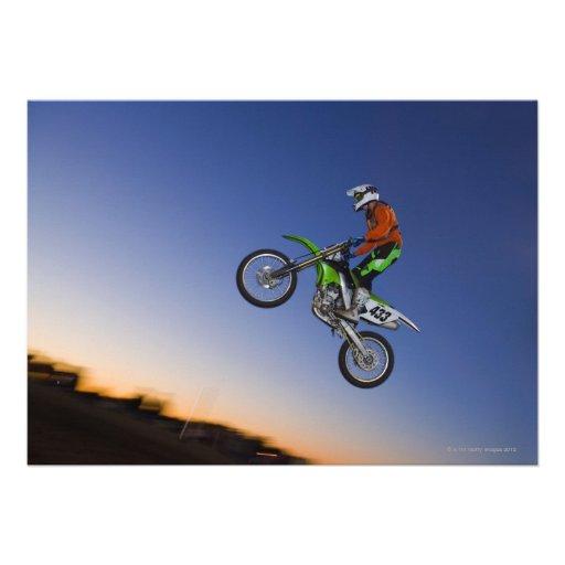 Jinete de Motorcross Invitacion Personalizada