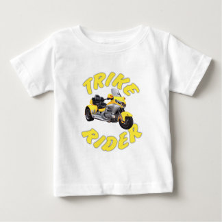 Jinete de Trike en amarillo Camiseta De Bebé