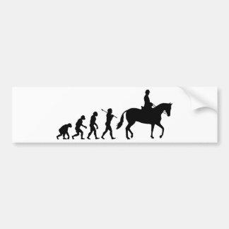 Jinete del caballo pegatina para coche
