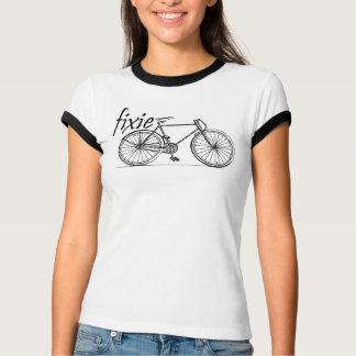 jinete del fixie de las señoras camiseta
