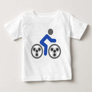 Jinete del hilandero de la persona agitada camiseta de bebé