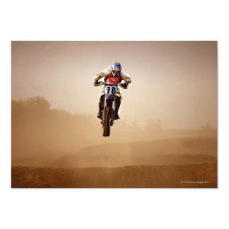 Jinete del motocrós invitación 12,7 x 17,8 cm