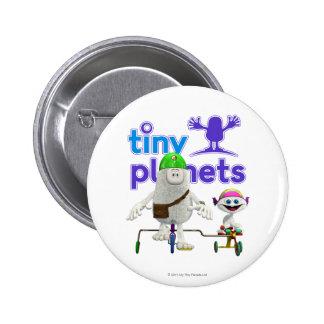 Jinete fácil de los planetas minúsculos chapa redonda 5 cm
