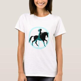 Jinete fresco del caballo del símbolo de paz camiseta