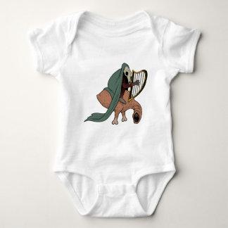 Jinete oscuro que toca la arpa body para bebé