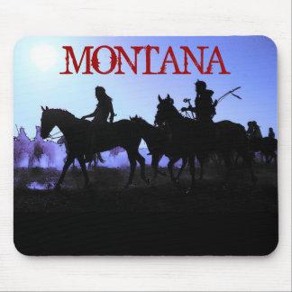Jinetes azules Mousepad de Montana