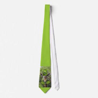 Jirafa afortunada corbata personalizada
