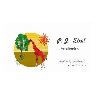 Jirafa bajo ejemplo de Sun Plantillas De Tarjetas De Visita