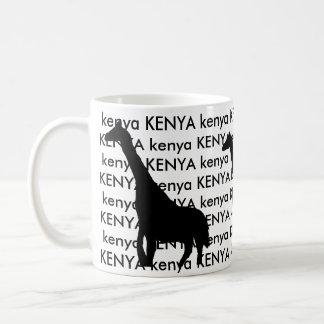 Jirafa de Kenia Taza De Café