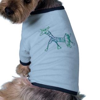 Jirafa de la tiza en un tutú camiseta con mangas para perro