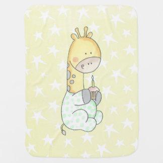 Jirafa del bebé con la manta del bebé de la