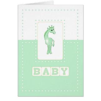 Jirafa del bebé de Congrats, verde Tarjeta De Felicitación