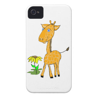 Jirafa del bebé de la cubierta de Iphone Funda Para iPhone 4