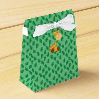 Jirafa del bebé de los animales el | del safari caja para regalos