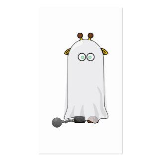 Jirafa del fantasma con las cadenas tarjetas de visita