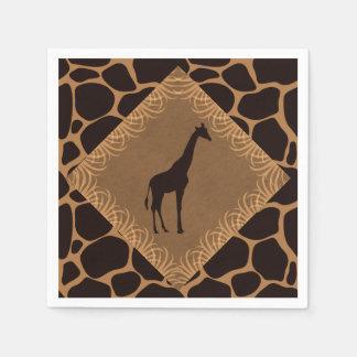 Jirafa del tema del safari servilletas desechables