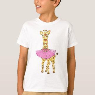 Jirafa en tutú camiseta