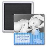 Jirafa/foto del bebé imanes de nevera