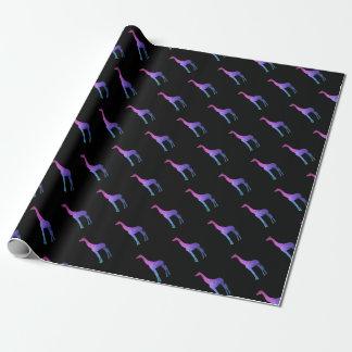 Jirafa geométrica con idea vibrante del regalo de papel de regalo