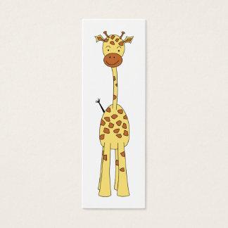 Jirafa linda alta. Animal del dibujo animado Tarjeta De Visita Pequeña