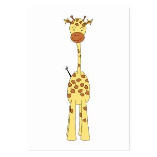 Jirafa linda alta. Animal del dibujo animado Tarjetas De Visita