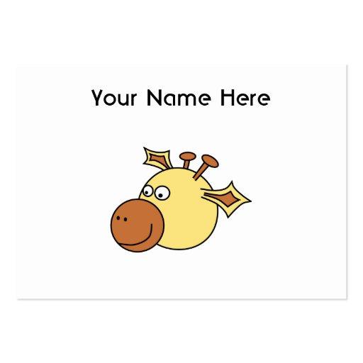 Jirafa linda feliz. Animal del dibujo animado Plantilla De Tarjeta De Negocio