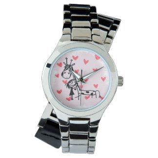 jirafa + sadie = mejores amigos para siempre reloj
