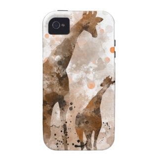 JIRAFA Y BEBÉ - caso del iPhone 4 Vibe iPhone 4 Carcasa