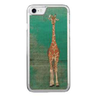 JIRAFA y iPhone tallado PÁJARO BLANCO Funda Para iPhone 8/7 De Carved