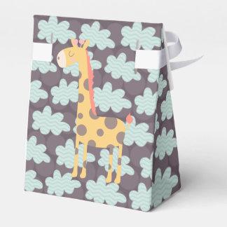 Jirafa y nubes caja de regalos