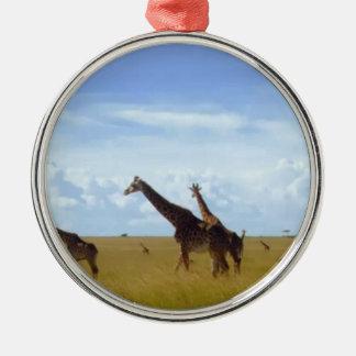 Jirafas africanas del safari adornos de navidad