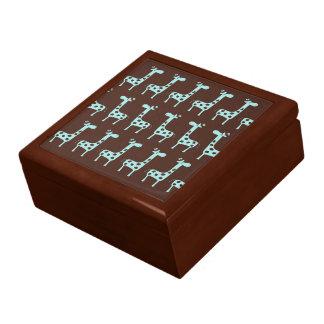 Jirafas azules caja de regalo