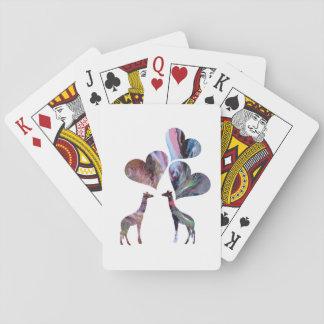 Jirafas del arte baraja de cartas