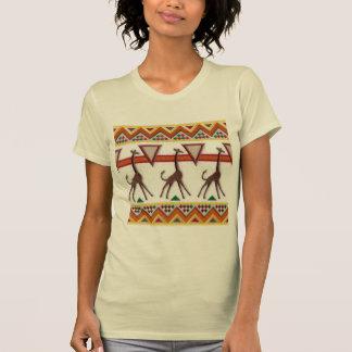 Jirafas en la camiseta de África