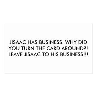 Jisaac tiene tarjeta de visita