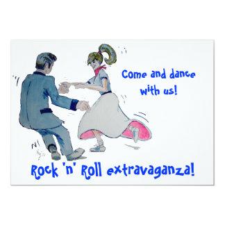 ¡Jive la diversión! balancee el rock-and-roll del Invitación 12,7 X 17,8 Cm