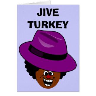 Jive Turquía se rellena por completo de sí mismo Tarjeta De Felicitación