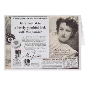 Joan Crawford hace frente al anuncio del polvo