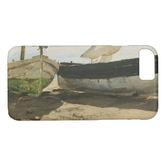 Joaquín Sorolla - barcos de pesca en la playa Funda Para iPhone 8/7