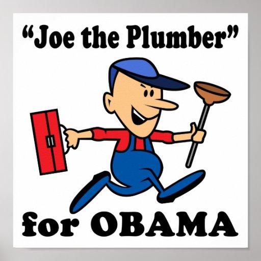 Joe el fontanero para Obama Posters