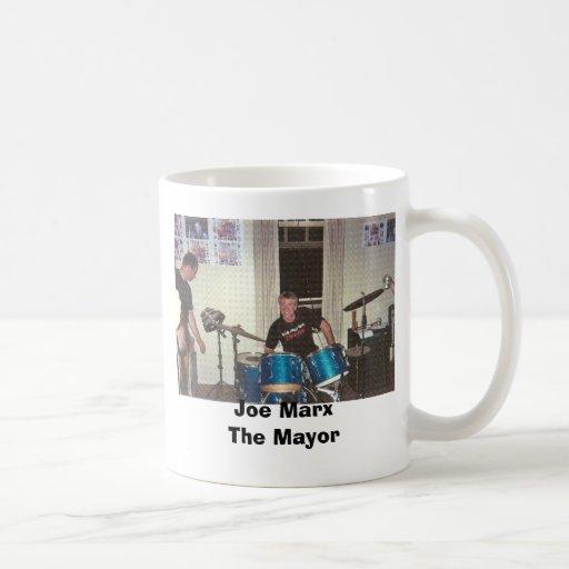 Joe en el GIF de los tambores, alcalde de Joe Marx Tazas De Café