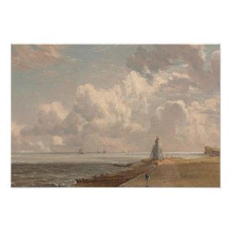 John Constable - Harwich - el faro bajo Foto