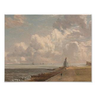 John Constable - Harwich - el faro bajo Impresiones Fotograficas