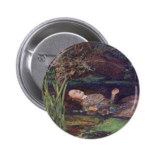 John Everett Millais Ofelia Chapa Redonda De 5 Cm