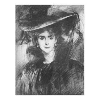 John Singer Sargent - baronesa de Meyer Postal