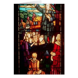 John Wesley que predica los evangelios en Inglater Felicitación