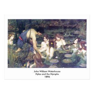 John William Waterhouse - Hylas y las ninfas Postal
