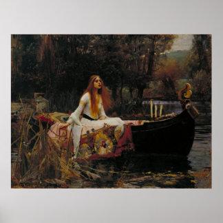 John William Waterhouse - la señora de Shalott Impresiones